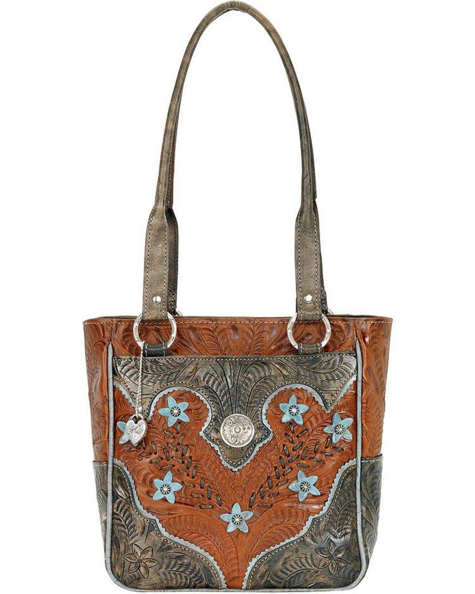 American West Women's Desert Wildflower Tote Bag, Tan, hi-res