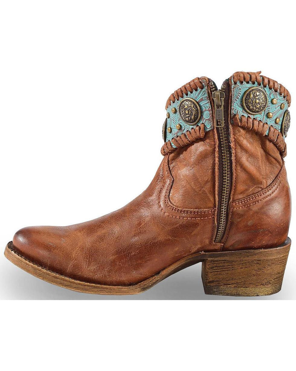 Corral Women's Filigree Booties, Cognac, hi-res