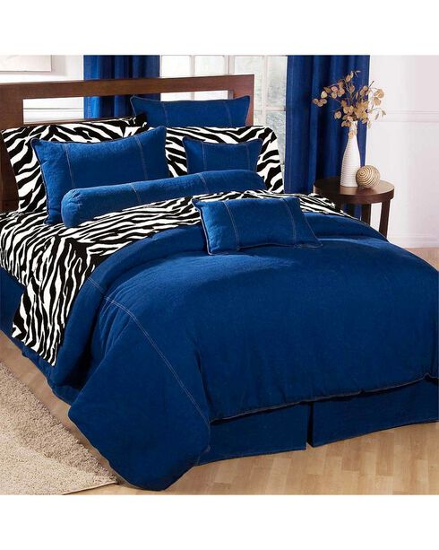 Karin Maki Denim Queen Size Duvet Cover, Denim, hi-res