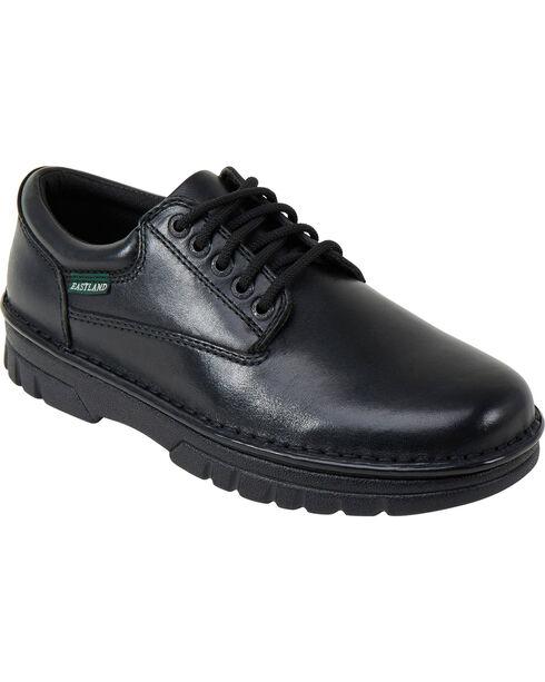 Eastland Men's Black Plainview Oxfords , Black, hi-res