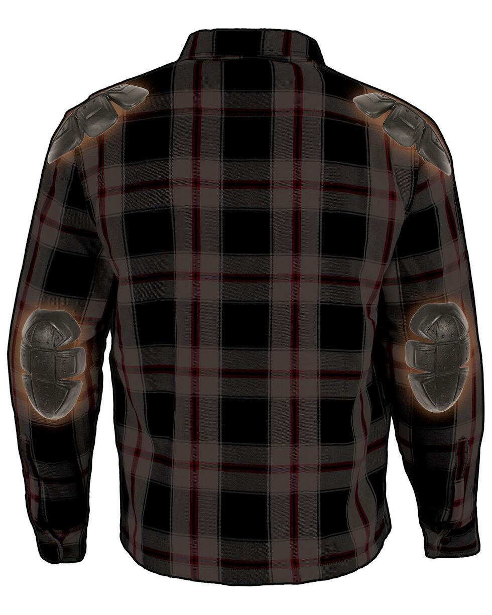 Milwaukee Performance Men's Black/White/Red Aramid Flannel Biker Jacket - 3X, Black/red, hi-res
