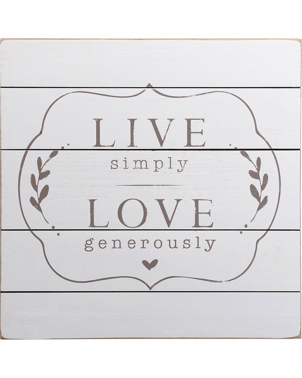 Demdaco Live Love Wall Art , White, hi-res