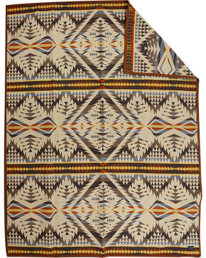 Pendleton Pattern Robe Blanket, Sand, hi-res
