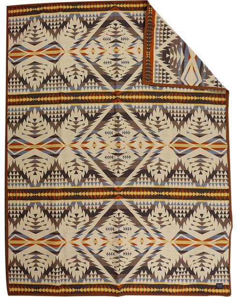 Pendleton Pattern Robe Blanket, Sand, hi-res