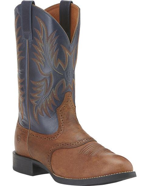 """Ariat Men's Heritage Stockman 11"""" Western Boots, Brown, hi-res"""