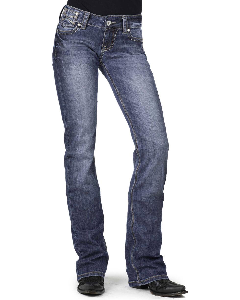 Stetson Women's Hollywood Boot Cut Jeans, Denim, hi-res