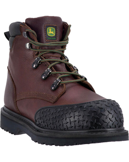 "John Deere Men's 6"" Work Rubber Toe Cap Boots - Round Toe, , hi-res"