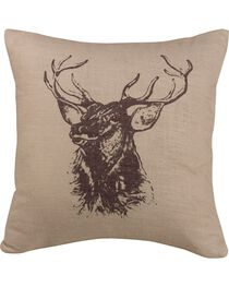 HiEnd Accents Elk Bust Accent Pillow, , hi-res