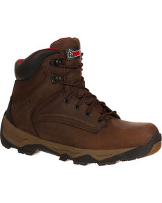 Rocky Boot Mens Retraction Waterproof Work Boots, Brown, hi-res