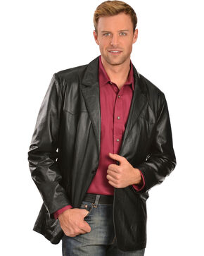 Scully Lamb Leather Blazer - Regular, Tall, Black, hi-res