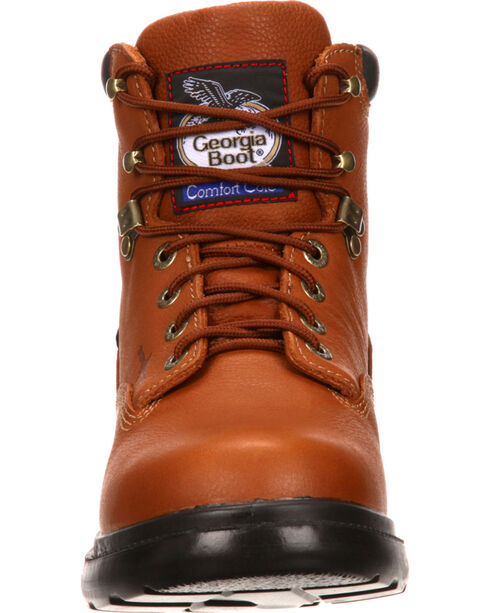 "Georgia Men's 6"" Waterproof Flexpoint Lace-Up Work Boots, Briar, hi-res"