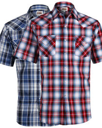 Ely Cattleman Men's Assorted Plaid Short Sleeve Shirts , , hi-res