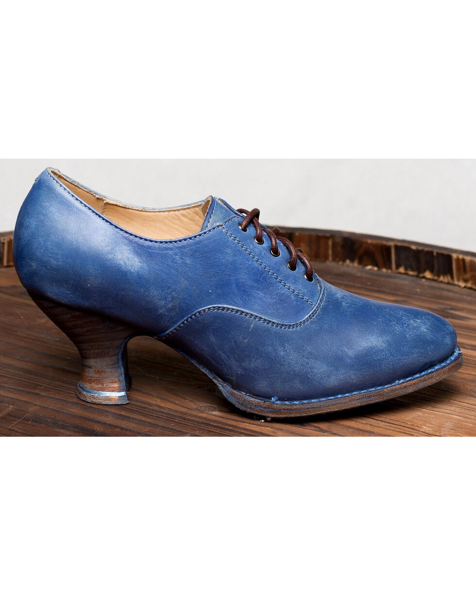 Oak Tree Farms Janet Blue Heels - Medium Toe, Blue, hi-res