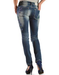 Grace in LA Floral Embroidery Skinny Jeans , , hi-res