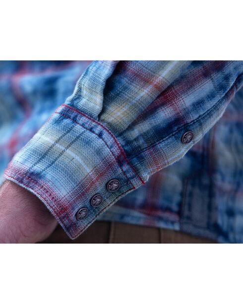 Ryan Michael Men's Indigo Cloud Plaid Shirt, Indigo, hi-res