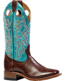 Boulet Shoulder Taurus Noce West Turqueza Cowgirl Boots - Square Toe, , hi-res