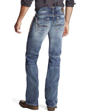 Ariat Men's Faded Boot Cut Jeans, Indigo, hi-res