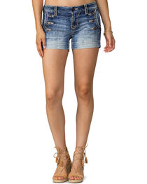 Miss Me Women's Indigo Nautical Visions Denim Short , , hi-res