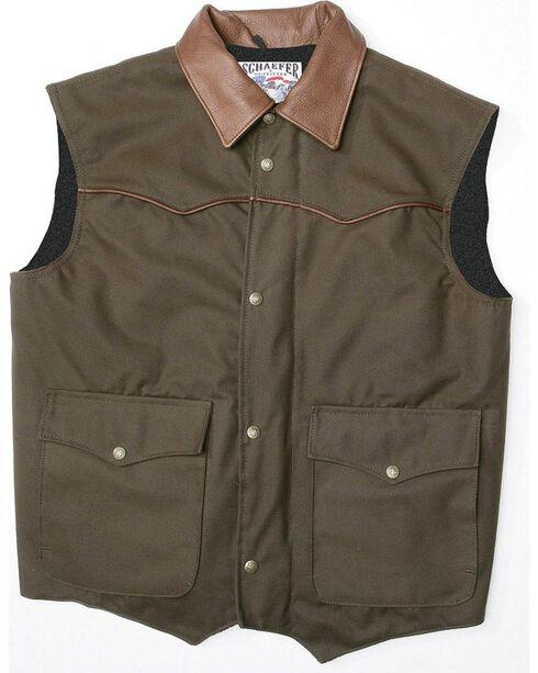 Schaefer Cattleman Canvas Vest, Tobacco, hi-res