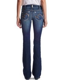 Ariat Women's Indigo Mid-Rise Morgan Lakeshore Jeans - Boot Cut , , hi-res