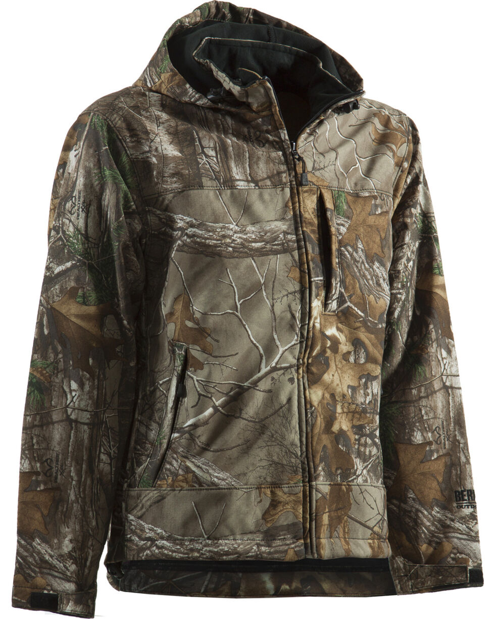 Berne Shedhorn Realtree Camo Softshell Jacket - 3XL and 4XL, Camouflage, hi-res