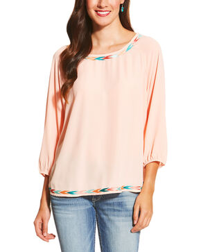 Ariat Women's Peach Gia Tunic, Peach, hi-res