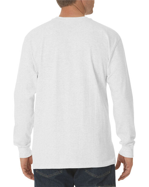 Dickies Men's Heavy Weight Crew Long Sleeve Tee, White, hi-res