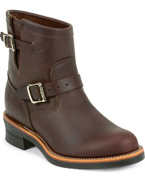 "Chippewa Men's Cordovan 7"" Engineer Boots, Cognac, hi-res"
