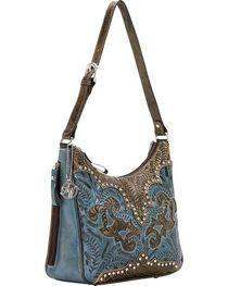 American West Annie's Secret Zip Top Shoulder Bag, , hi-res