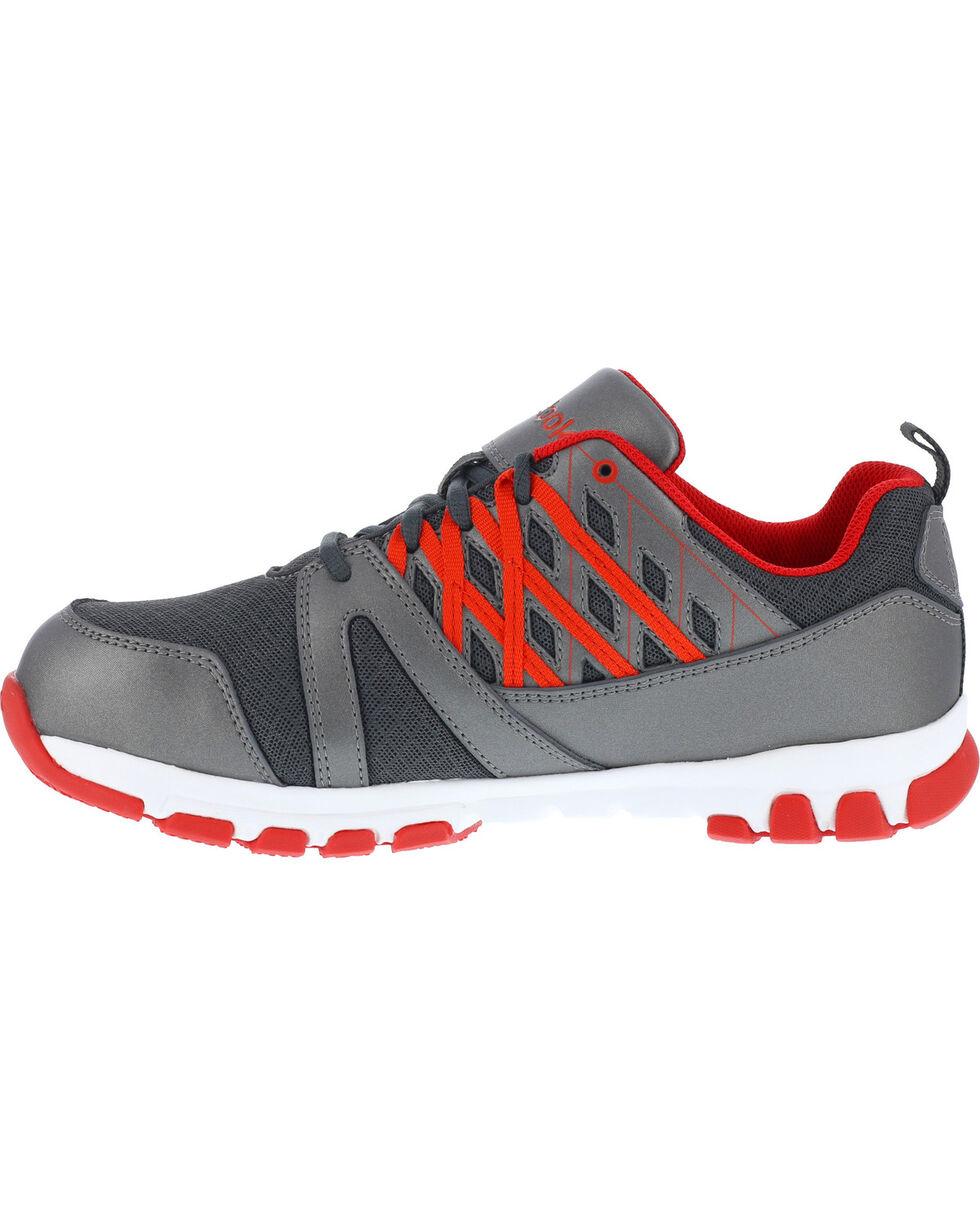 Reebok Men's Athletic Oxfords - Steel Toe, Grey, hi-res