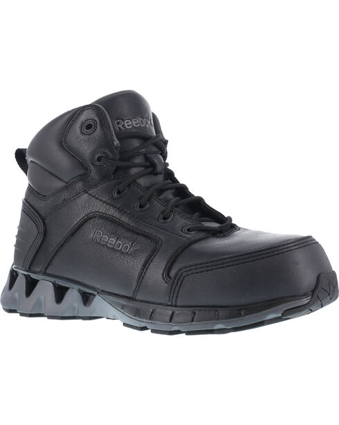 "Reebok Men's Athletic 6"" Boots - Composite Toe, Black, hi-res"