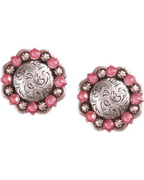 Julie Rose Filigree Concho Post Earrings, , hi-res