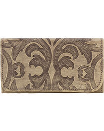 American West Sand Baroque Tri-Fold Wallet , , hi-res