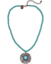 West & Co. Women's Single Strand Turquoise Arrow Charm Necklace, , hi-res