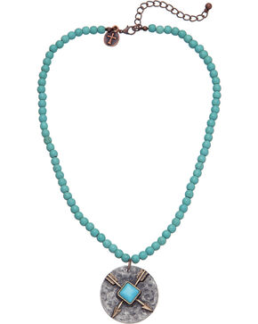 West & Co. Women's Single Strand Turquoise Arrow Charm Necklace, Turquoise, hi-res