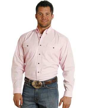 Roper Amarillo Collection Western Shirt, Pink, hi-res