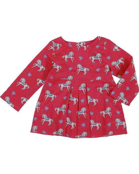 Wrangler Infant Girls' Pink Horse Print Tunic , Pink, hi-res