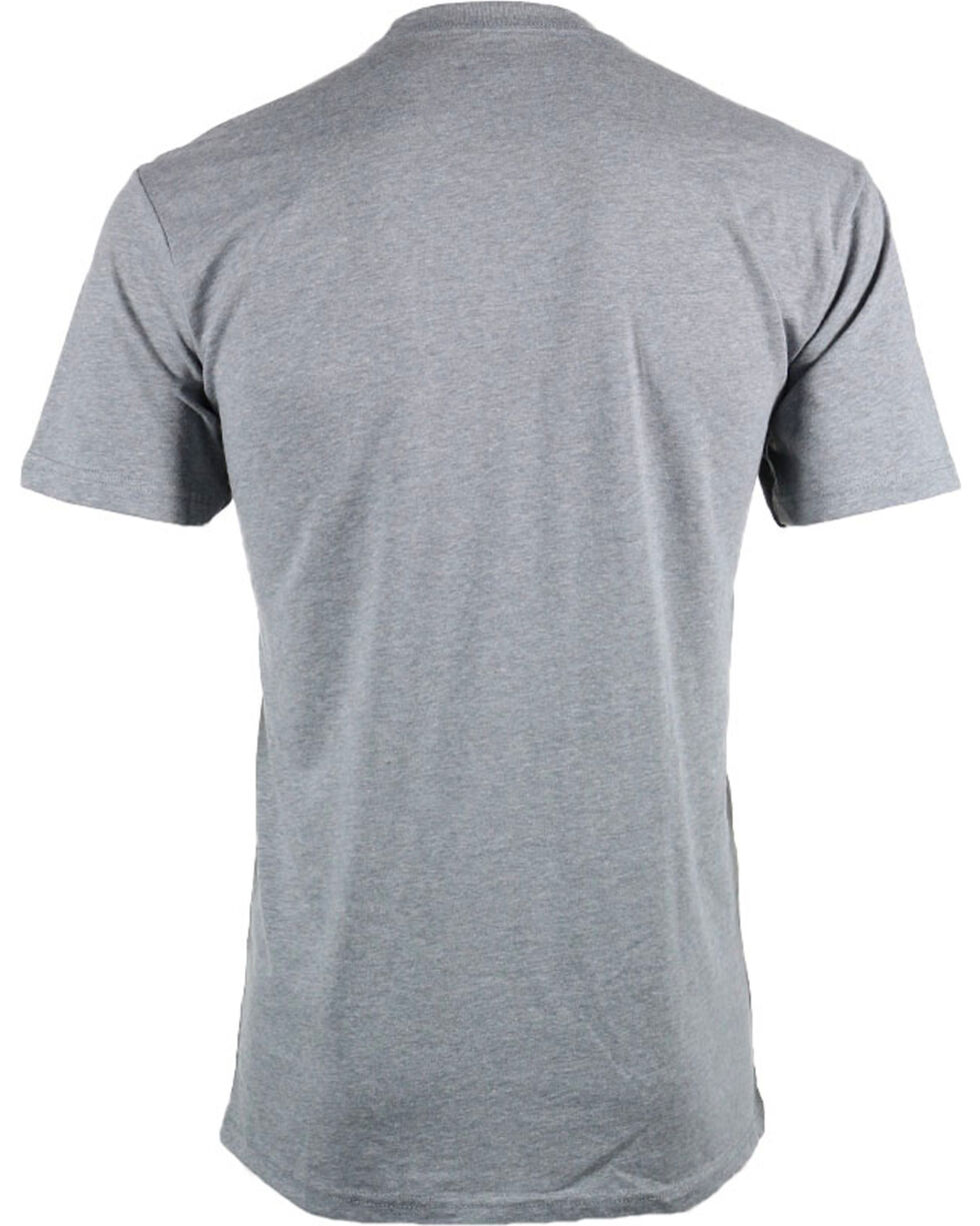Cowboy Up Men's Logo T-Shirt, Grey, hi-res