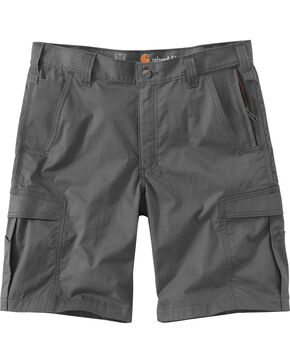 Carhartt Men's Dark Khaki Force Extremes Cargo Shorts , Charcoal Grey, hi-res