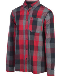 Browning Men's Red Crawford Flannel Shirt , , hi-res