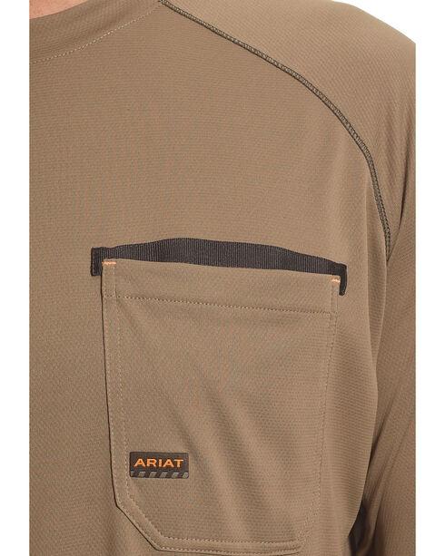 Ariat Men's Rebar Sun Stopper Long Sleeve Shirt, Brown, hi-res