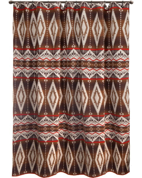 Carstens Pecos Trail Shower Curtain, Brown, hi-res