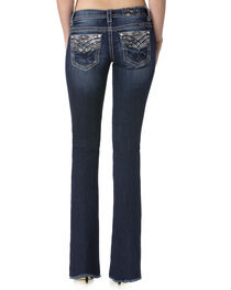 Miss Me Women's Indigo Heavy Stitched Jeans - Boot Cut , , hi-res