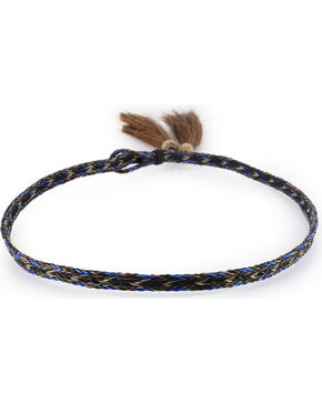 Cody James Men's Horse Hair Braided Hat Band , Brown/blue, hi-res