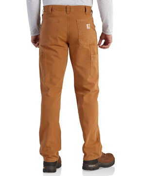 Carhartt Men's Relaxed-Fit Washed Duck Dungaree Work Pants, Pecan, hi-res