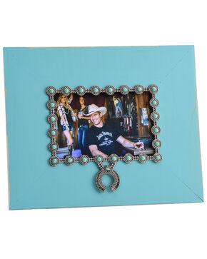 BB Ranch Squash Blossom Frame, Turquoise, hi-res