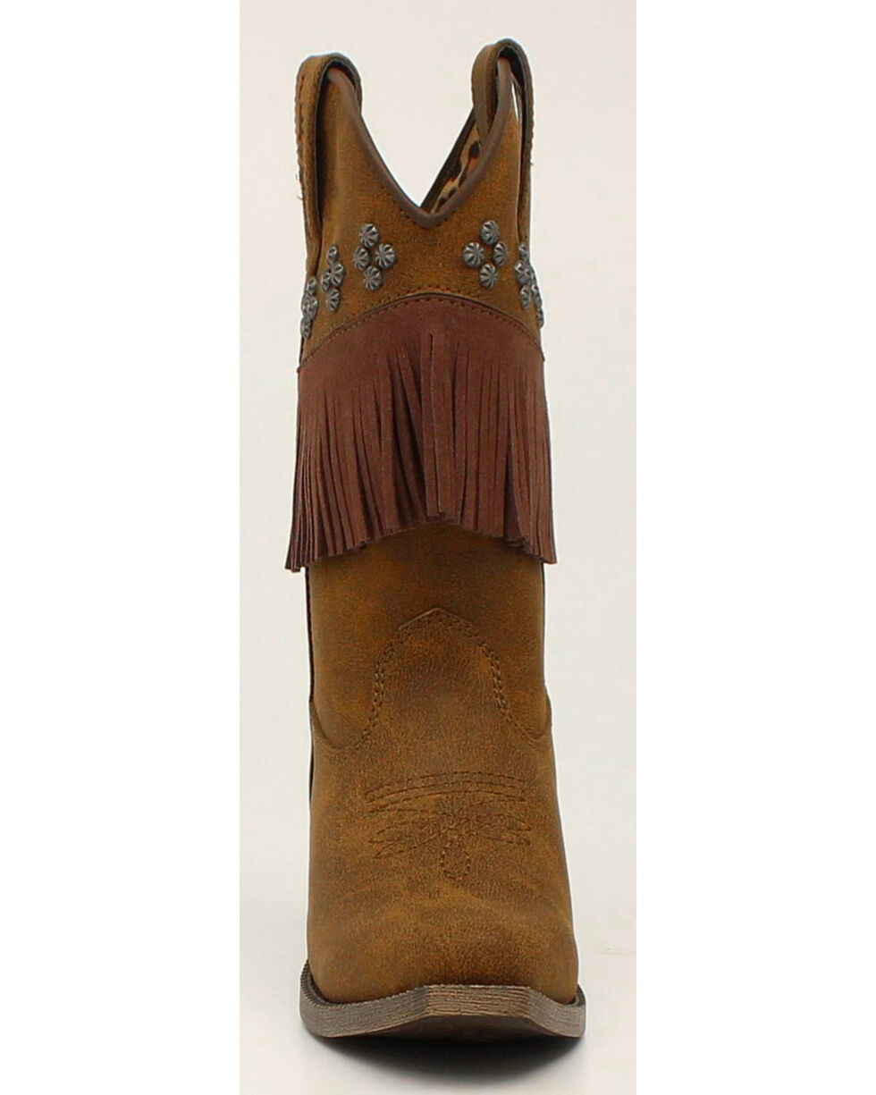 Blazin Roxx Girls' Annabelle Fringe Cowgirl Boots - Snip Toe, , hi-res