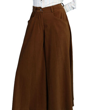 Scully Women's Split Riding Skirt, Brown, hi-res