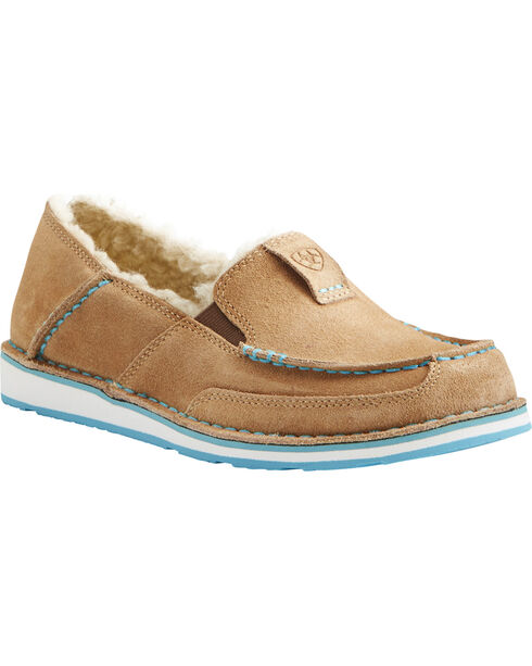 Ariat Women's Fleece Cruiser Shoes, Taupe, hi-res