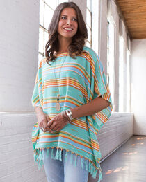 Ryan Michael Women's Serape Poncho, , hi-res